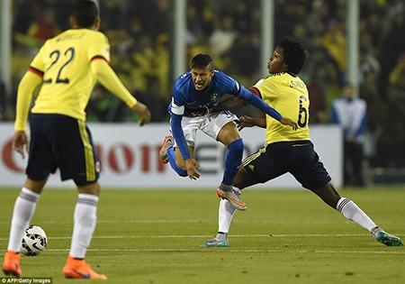 Neymar nhận thẻ đỏ, Brazil thua sốc trước Colombia - ảnh 3