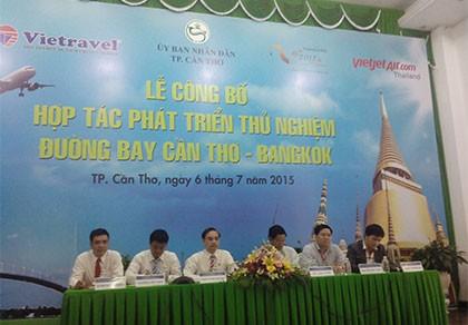 Mở đường bay mới Cần Thơ - Bangkok - ảnh 1