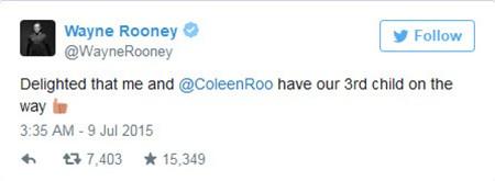 Wayne Rooney sắp đón đứa con thứ 3 - ảnh 2