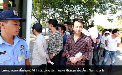 Vé xem trận Việt Nam - M.C chưa có nhiều người mua - ảnh 1