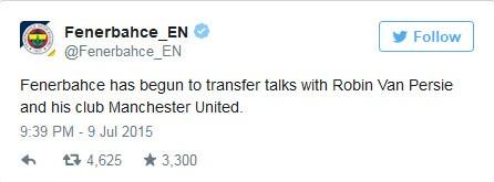 Fenerbahce xác nhận đang đàm phán mua Van Persie - ảnh 2