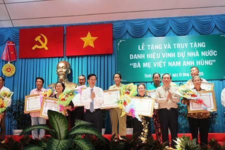 Trao tặng và truy tặng 73 danh hiệu 'Bà mẹ Việt Nam anh hùng' - ảnh 2