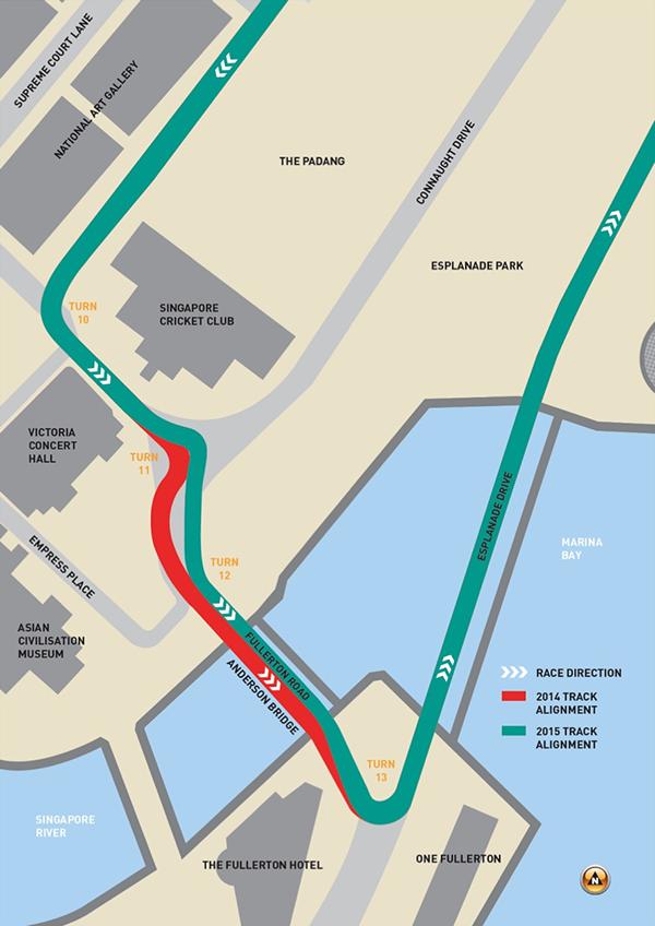 Đường đua F1 Singapore thay đổi để hấp dẫn hơn - ảnh 2