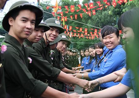 TP.HCM: Hơn 1.200 thanh niên tình nguyện nhập ngũ  - ảnh 31