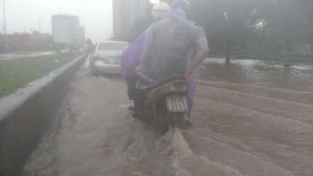 Người Hà Nội 'nô nức' ra sông bắt cá sau cơn mưa lớn  - ảnh 1