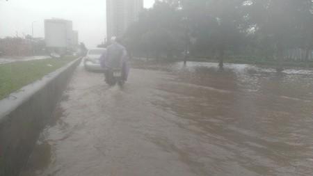 Người Hà Nội 'nô nức' ra sông bắt cá sau cơn mưa lớn  - ảnh 2