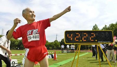 'Usain Bolt' Nhật Bản 105 tuổi vô địch cự ly 100m - ảnh 1