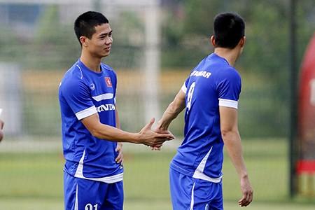Chùm ảnh tuyển Việt Nam tập luyện chuẩn bị 'đấu' Thái Lan - ảnh 11