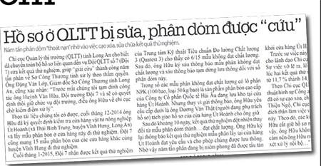 Khởi tố cán bộ QLTT