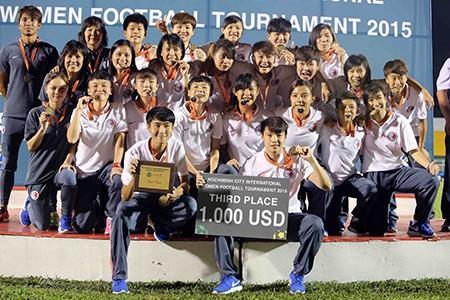 Đội nữ TP.HCM vô địch giải bóng đá quốc tế mở rộng - ảnh 12