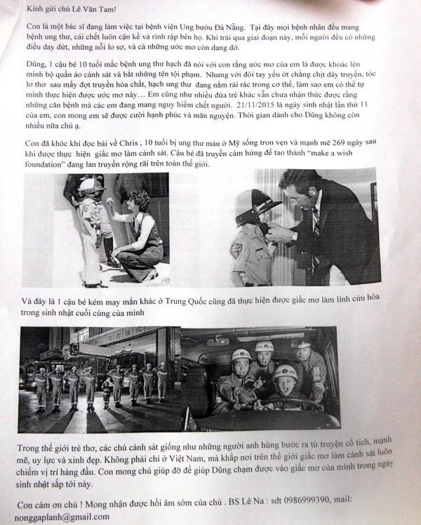 Bức thư bác sĩ Lê Na gửi giám đốc Công an TP Đà Nẵng