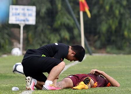 Buổi tập đầu tiên của U-23 Việt Nam: Công Phượng lập hat-trick - ảnh 8