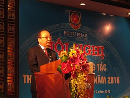 Phó Thủ tướng Nguyễn Xuân Phúc biểu dương thi hành án của Bộ Tư pháp - ảnh 1