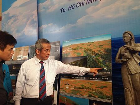 Khai mạc triển lãm thiết kế 'khu tưởng niệm nghĩa sĩ Hoàng Sa' - ảnh 1