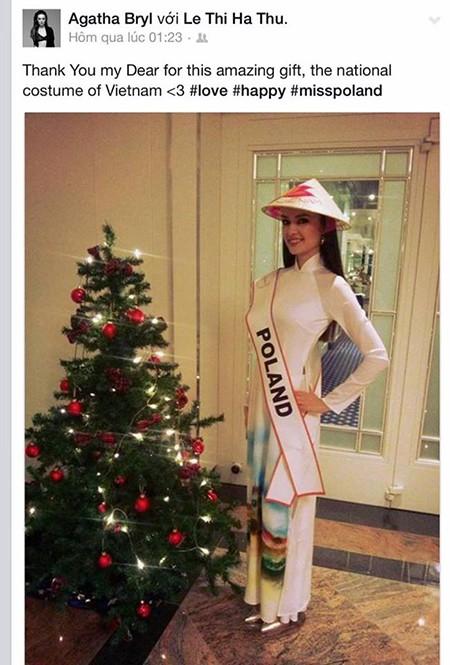 Hà Thu tặng nón lá tại Hoa hậu Liên lục địa - ảnh 5