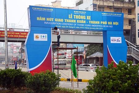 Cận cảnh hầm chui Thanh Xuân và Trung Hòa trước ngày thông xe - ảnh 3