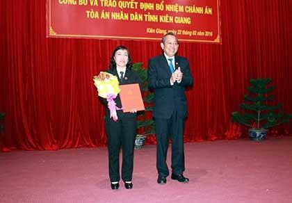 Bổ nhiệm chánh án TAND  tỉnh Kiên Giang - ảnh 1