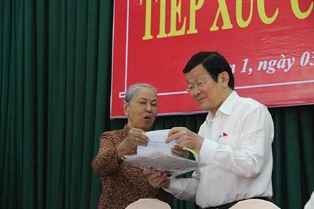 Chủ tịch nước Trương Tấn Sang: 'Tôi sợ nhất người ta nói chợ chiều' - ảnh 1