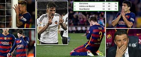 Barcelona 1-2 Valencia: Khủng hoảng thật rồi! - ảnh 1