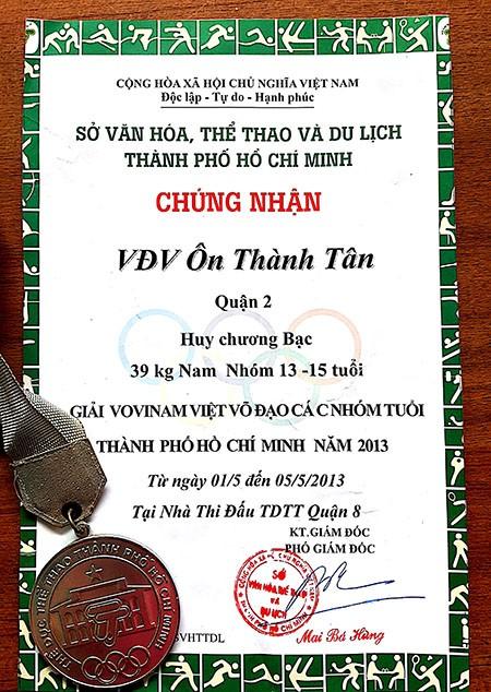 Thanh niên cướp giật bánh mì từng đoạt huy chương Vovinam - ảnh 1