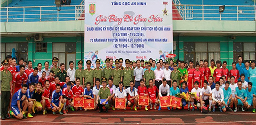 Khai mạc Giải bóng đá Tổng cục An ninh tại TP.HCM - ảnh 1