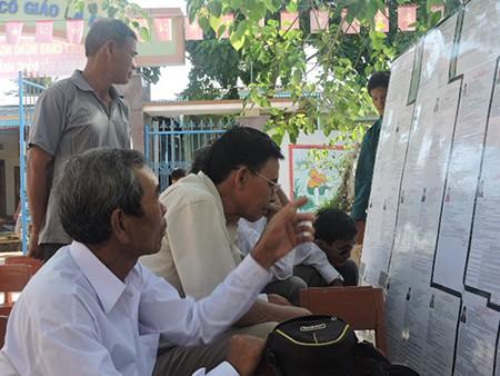 Ngư dân đảo Lý Sơn nô nức tham gia bỏ phiếu bầu cử - ảnh 2