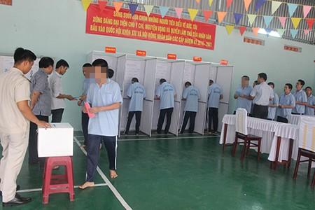Hàng trăm học viên trại cai nghiện đi bầu cử - ảnh 6
