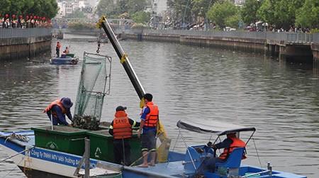 Tách nước bẩn, ngăn cá chết trên kênh Nhiêu Lộc - Thị Nghè - ảnh 1