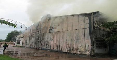 Hỏa hoạn thiêu rụi nhà kho công ty sản xuất bao bì - ảnh 1