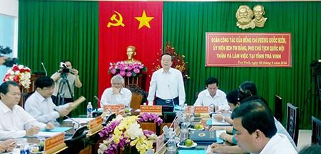Phó Chủ tịch Quốc hội Phùng Quốc Hiển làm việc với tỉnh Trà Vinh - ảnh 1