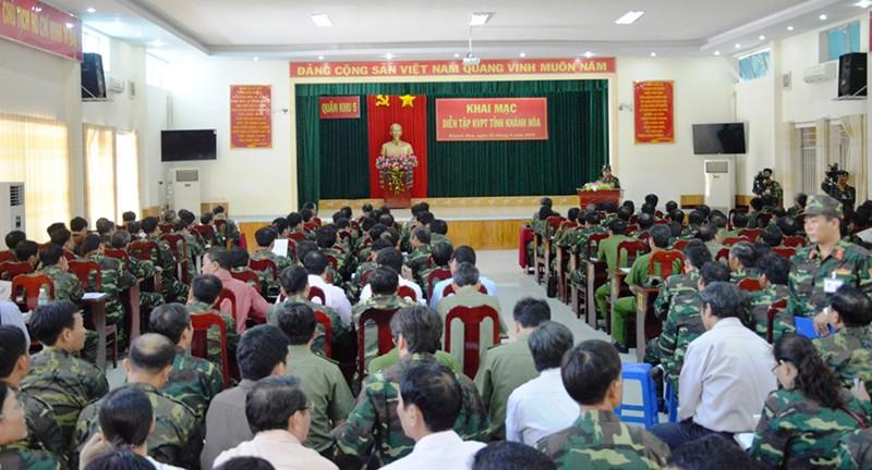 Khai mạc diễn tập khu vực phòng thủ tỉnh Khánh Hòa - ảnh 2