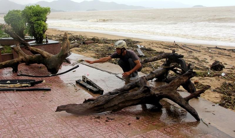 Bãi biển Nha Trang ngập rác trong những ngày mưa - ảnh 1