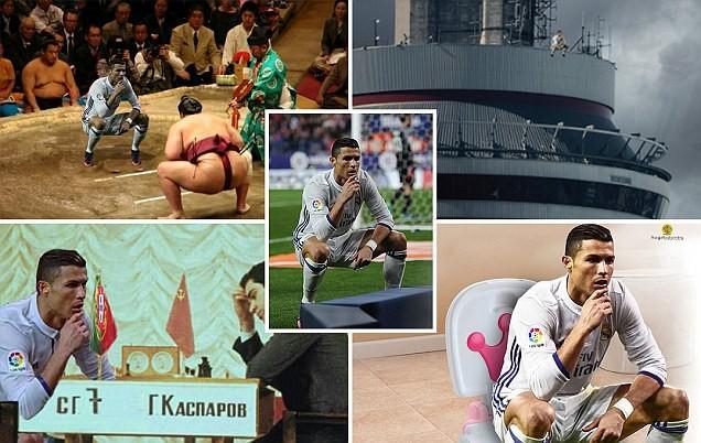 Ảnh chế Ronaldo mừng bàn thắng theo trào lưu đứng hình - ảnh 1