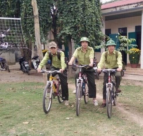 Vườn quốc gia Yok Đôn tuần tra rừng bằng xe đạp - ảnh 1