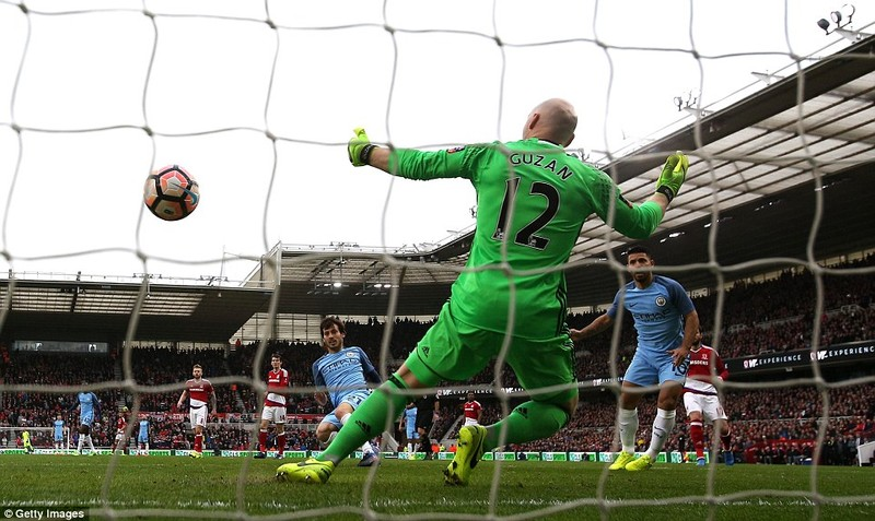 Thắng nhẹ Middlesbrough, Man City  vào bán kết FA Cup - ảnh 1