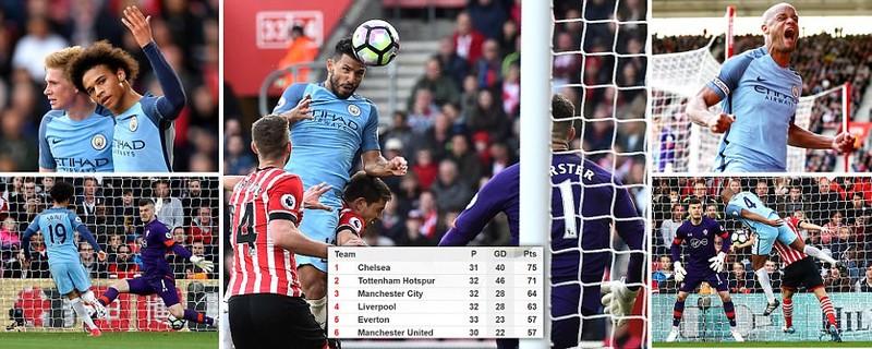 Southampton 0-3 Man City: Hiệp 1 bế tắc, bùng nổ hiệp 2 - ảnh 1