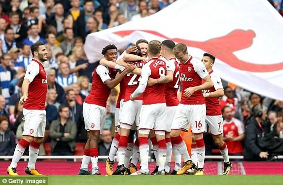 Thắng dễ Brighton, Arsenal trở lại cuộc đua vô địch - ảnh 4