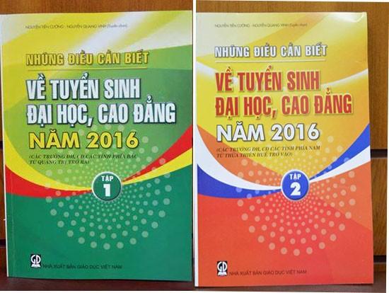 Phát hành sách 'Những điều cần biết về tuyển sinh ĐH, CĐ năm 2016' - ảnh 1