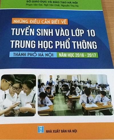 Phát hành cuốn 'Những điều cần biết về tuyển sinh vào lớp 10' - ảnh 1