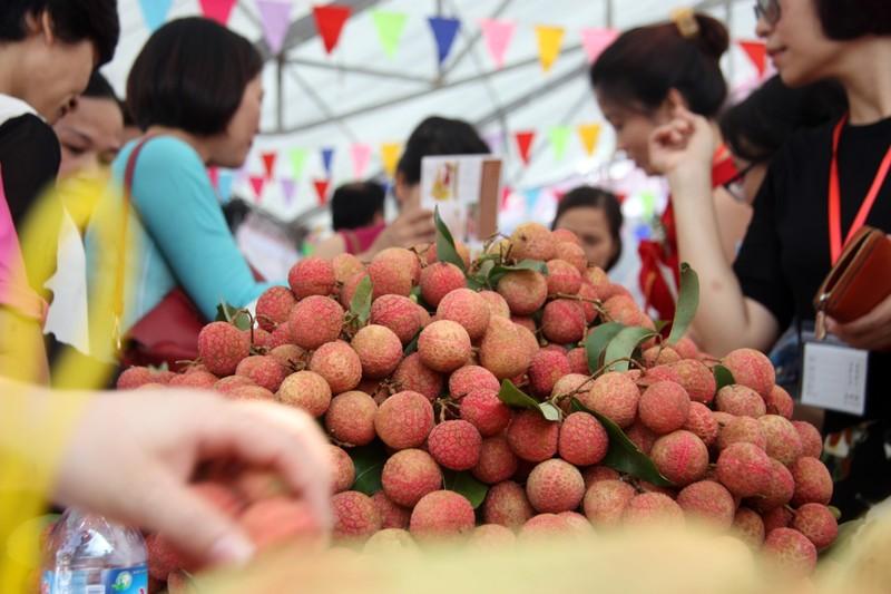 Người dân thủ đô chen nhau nếm thử vải thiều Bắc Giang - ảnh 2