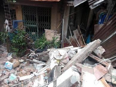 Hiện trường vụ sập nhà ngổn ngang gạch đá, bê tông