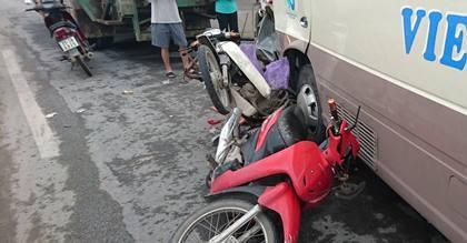 Tai nạn liên hoàn, 3 người bị thương - ảnh 2