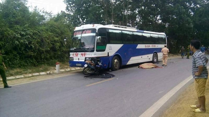 Hiện trường một trong hai vụ tai nạn.
