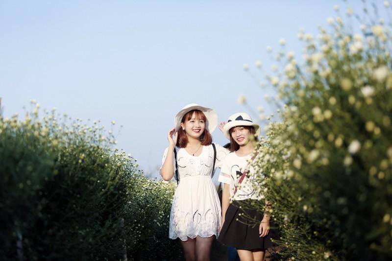 Thiếu nữ Hà thành 'đọ sắc' cùng hoa cúc họa mi - ảnh 7