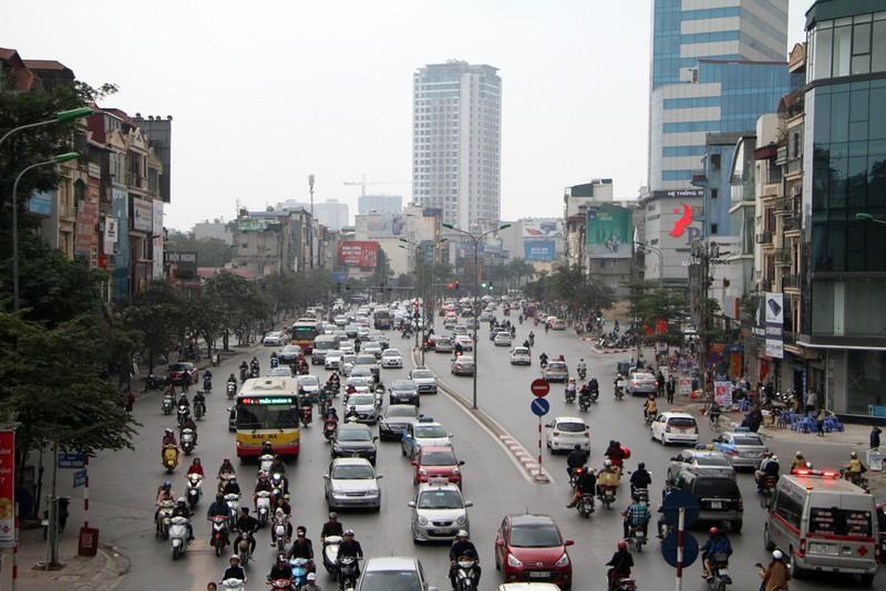 Giao thông Hà Nội tăng cao sau dịp nghỉ tết - ảnh 3
