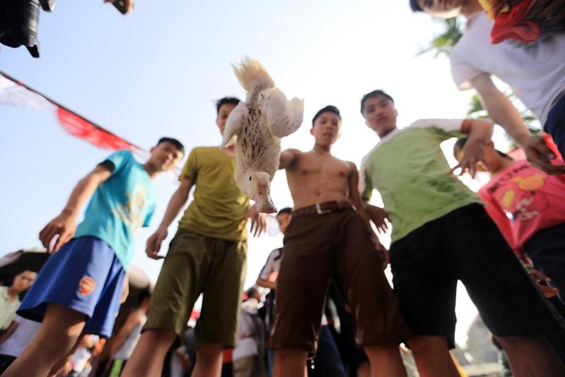 """Dân đội nắng xem trò ba thanh niên """"bắt vịt"""" - ảnh 13"""