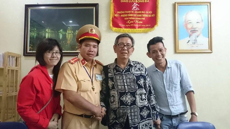 Ông Hoàng Sinh Nam tại Đội CSGT số 1.