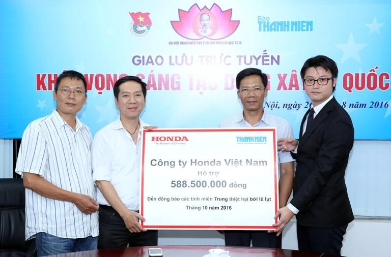 Honda Việt Nam chia sẻ với đồng bào lũ lụt miền Trung - ảnh 1
