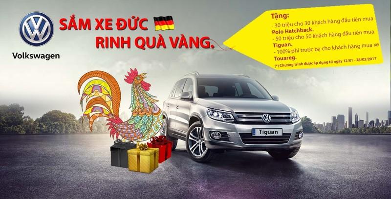 """Volkswagen khuyến mãi """"Sắm xe Đức - Rinh quà vàng"""" - ảnh 1"""