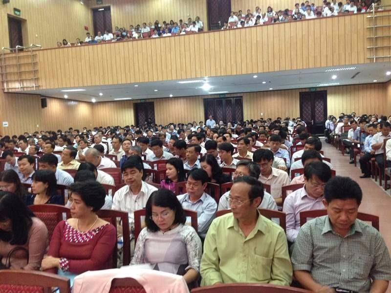 Hội nghị thu hút hàng trăm đại biểu từ các Sở LĐ-TB&XH, các trường CĐ, trung cấp các tỉnh thành phía Nam t